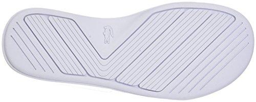 Lacoste Damen L.30 Slide 218 1 Caw Zehentrenner Weiß (Wht/grn 082)