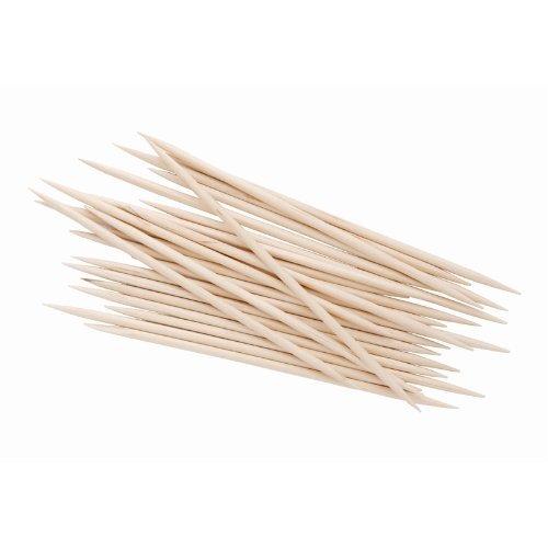(THALI Outlet Leeds–1000x Holz Cocktail Sticks/Zahnstocher 80mm 7,6cm biologisch abbaubar Einweg Hohe Qualität)