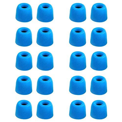 Ansemen Größe-M Gedächtnisschaum Ohreinsätze Tips für Beats X/Powerbeats3 Wireless/Powerbeats 2/urBeats3/URBEATS 2.0/URBEATS 3.0/ Diddy Beat/URBEATS 1.0,Ersatz-Ohrhörer für Kopfhörer (10 Paar,Blau)