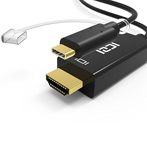 ICZI Cavo USB C a HDMI 1,8 m ( 4K / 60 Hz ), USB 3.1 Maschio Tipo C (Compatibile Thunderbolt 3) a Maschio Cavo HDMI 4K per Samsung Galaxy S8 / S8 Plus, MacBookPro 2016, MacBook 2015, LG G5, ChromeBook Pixel, Huawei Matebook ecc