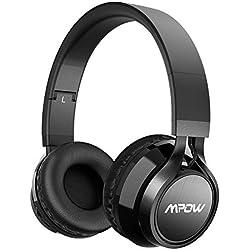 Mpow Thor,Auriculares Bluetooth Diadema,Casco Bluetooth Inalámbrico con Micrófono,Casco Plegable Headphone Bluetooth Manos Libres y Cable de Audio