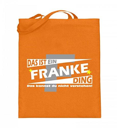 Hochwertiger Jutebeutel (mit langen Henkeln) - FRANKE Partnershirts Mittelorange