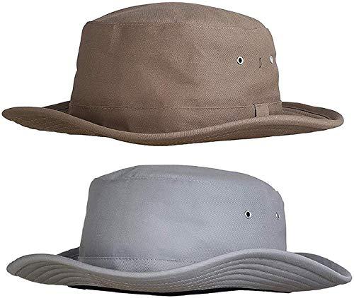 Zacharias Men's Cricket Umpire Hat Pack of 2 Beige & Light Grey