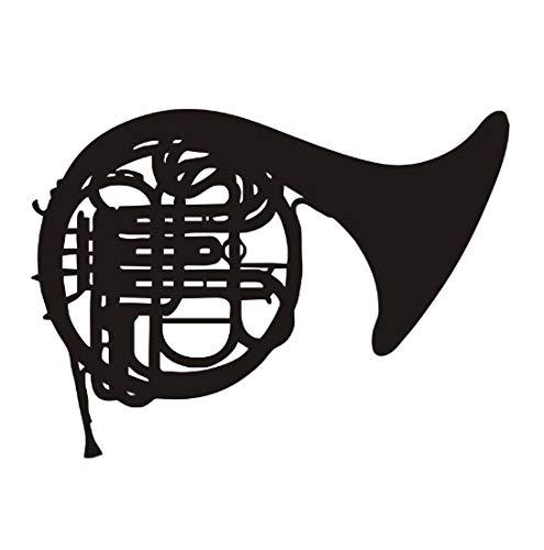 Cartoon Musik Wandaufkleber Hinweis Posaune Musikinstrument dekoration Schlafzimmer Abnehmbare Vinyl Aufkleber Zimmer 59x43 cm