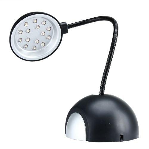 Mini Round USB LED Desk Table Lamp Reading Eye Protection Light Black Fine