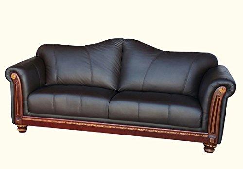 Designer Ledersofa Ledermöbel Leder-Sofa-3 Sitzer Garnitur Couch 278-3-3023