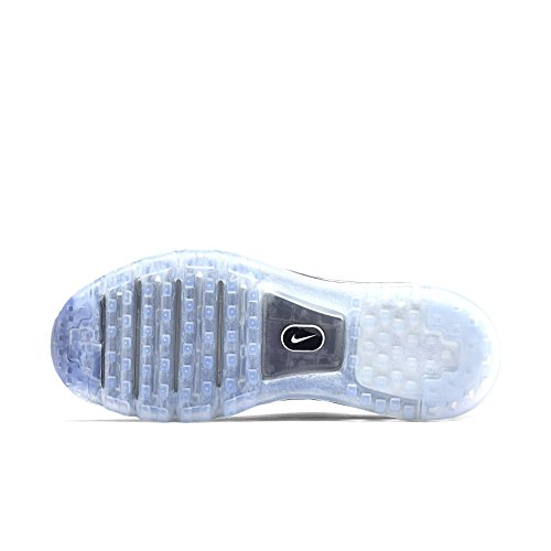 Nike Wmns Flyknit Max, Chaussures de Running Entrainement Femme Noir - Negro (Black / Black-Chlk Bl-Hypr Orng)