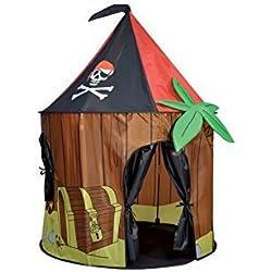 Tienda de juegos con diseño pirata.