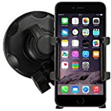 iPhone In Car Holder Windscreen Suction Mount for Apple iPhone 6 6S 6/6S Plus, 4 4S, iPhone 5 5S 5C - Mobile Accessories By Sunwire®