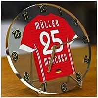 T-Shirt de football allemand Bundesliga – Bureau Horloges – N importe Quel  Nom f69d0b76ef7