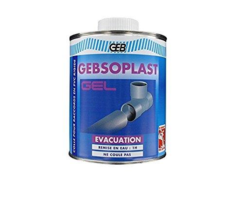 GEB 504711 Gebsoplast Colle évacuation en gel pour raccords en PVC rigide Pot 250ml