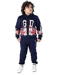 129750ec5c1e46 Grand Derby Full Sleeve Boys Printed Hooded Front Zipper Sweatshirt