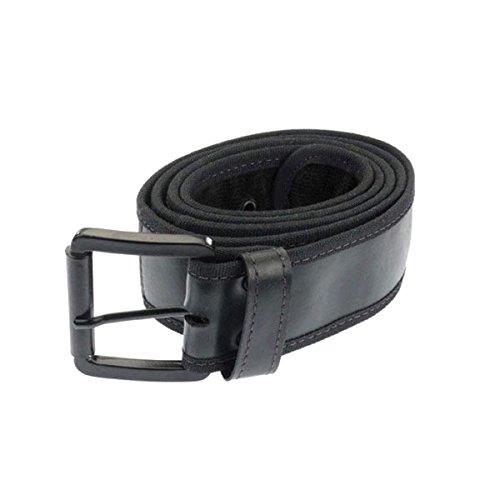 Fair Trade Gürtel - vegan - aus recycelten Reifen / Gummi + Kordstoff - fairtrade (100, schwarz)