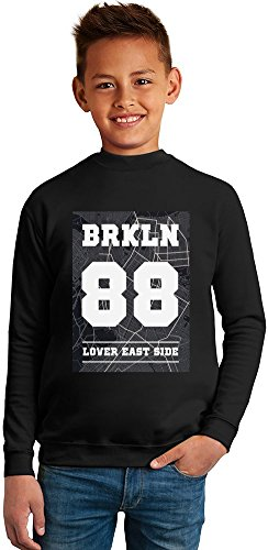brooklyn 88 lover east side Superb Quality Boys Sweater by BENITO CLOTHING - 50% Cotton & 50% Polyester- Set-In Sleeves- Open End Yarn- Unisex for Boys and Girls 6-7 years (Collection East Side Pullover)