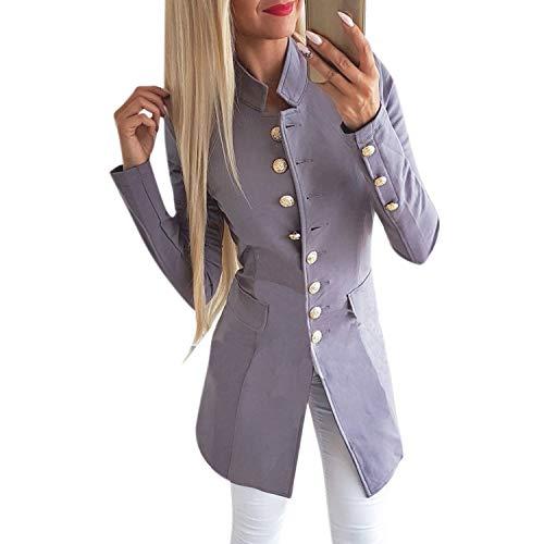 Katesid Damen Blazer Damenjacke Admiral Uniform Jacke Vinatge Military Blogger Slim Fit
