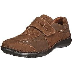 Josef Seibel Alec Herren Low-Top Sneaker   Comfort Schuhe aus Nappaleder -Braun (340 brasil),44 EU