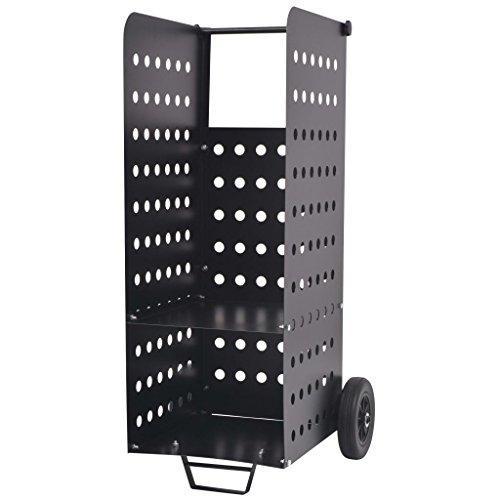 Luckyfu Holzkarre mit Rollen aus Kunststoff 36 x 42 x 105 cm, stabil, zuverlässig, robust und widerstandsfähig.