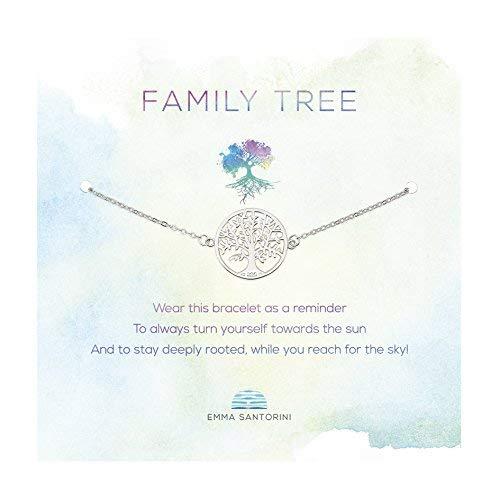 Emma Santorini Silberarmband mit Spruch-Karte Lebensbaum -
