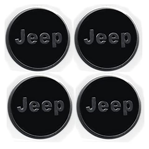 Aufkleber-Set mit Jeep-Emblem, für Felgendeckel, Radstern, Legierungen, Raddeckel, Radzierblenden, 4