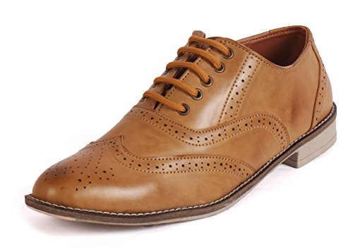 WOODSTONE COOPER Tan Formal Brogue Shoes , Party ,Leather Formal SHOES For Men
