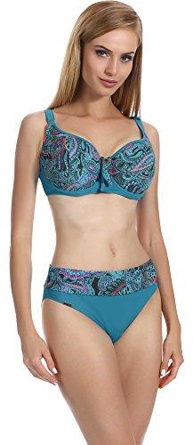 Antie Bikini Trajes de Baño Conjunto Tops y Bragas Mujer L1 P1L91 2017 Turquesa1617, EUCopa75D/38=ES90D/40...