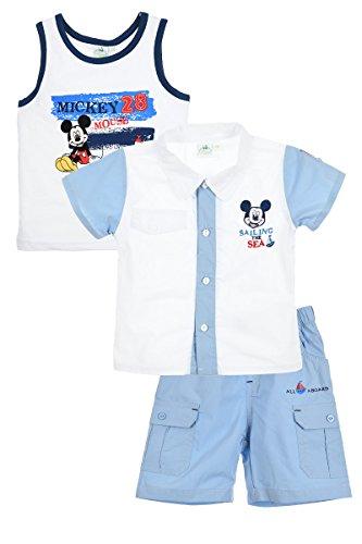 Mickey Mouse - Conjunto Deportivos - para bebé niño Blanco 24 Meses
