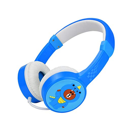 Kinder Kopfhörer, Kinderkopfhörer mit 85dB Volume Limited und Musik teilen Hafen, Kleinkind Kopfhörer mit Safe Food Grade Material, langlebig Headset kompatibel mit Computer, Laptop für Jungen-Blau