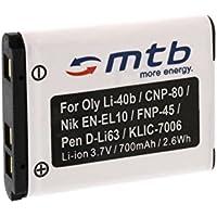 Batteria D-Li63 per Pentax Optio L30, L40, M30, M40, T30,