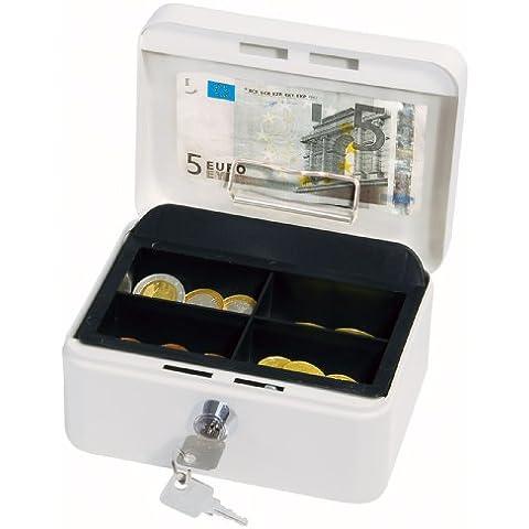 Wedo 145100H Gr. 1 Cassetta Portavalori con Clip, 15.2 x 11.5 x 8.0 cm, Bianco