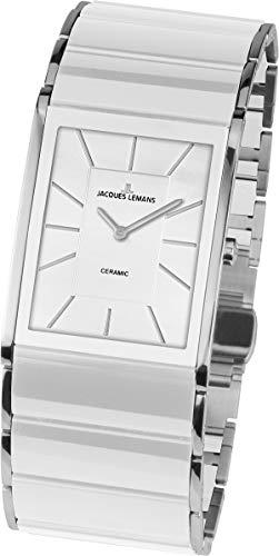 JACQUES LEMANS Damen Analog Quarz Uhr mit Edelstahl Armband 1-1940B