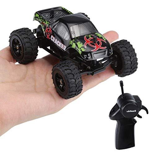 1:32 Escala RC Camión Monstruo, 2.4GHz 2WD, Radio Control Remoto Buggy Gran Rueda Vehículo Todoterreno (negro)