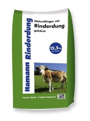 Hamann Naturdünger mit Rinderdung - organisch-biologischer Gartendünger - 12,5 kg Sack