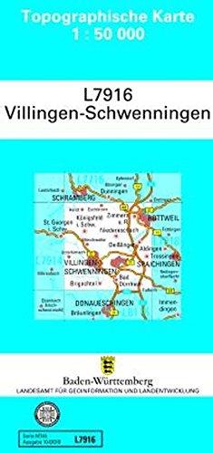 L7916 Villingen - Schwenningen: Zivilmilitärische Ausgabe TK50 (Topographische Karte 1:50 000 (TK50))