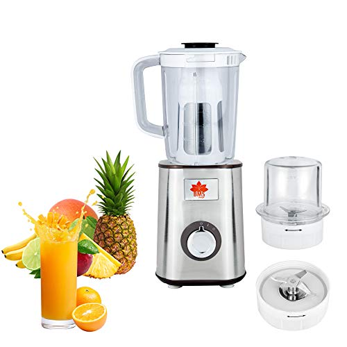 BMS LIFESTYLE Multi-Function Juicer Home automatic fruit and vegetable fried fruit juice machine (Super power, color steel body, 3 knives and 3 JAR)