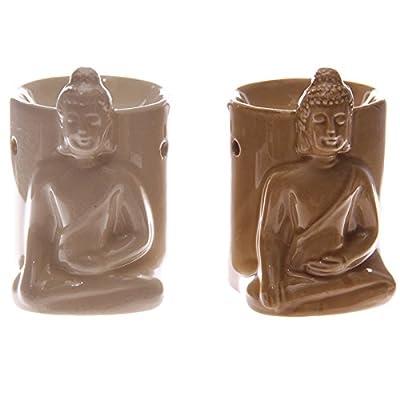 Ceramic Crazed Glaze Thai Buddha Oil Burner