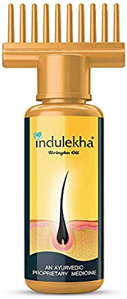 Indulekha Bringha Oil, Reduces Hair Fall and Grows New Hair, 100% Ayurvedic Oil, 100ml