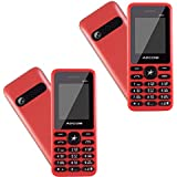 (Pack Of Two) - Adcom A101 Voice Changer Mobile Phone (1.77 Inch Display, Dual Sim, 800 MAH Battery, Red)