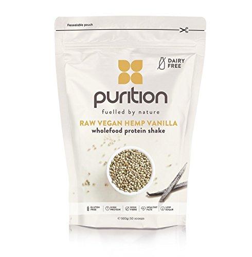 Milk-shake protéiné, végétalien à la vanille (500 g) idéal pour la perte de poids et la récupération après l'effort - substitut de repas 100 % naturel - smoothie petit déjeuner sans produit laitier