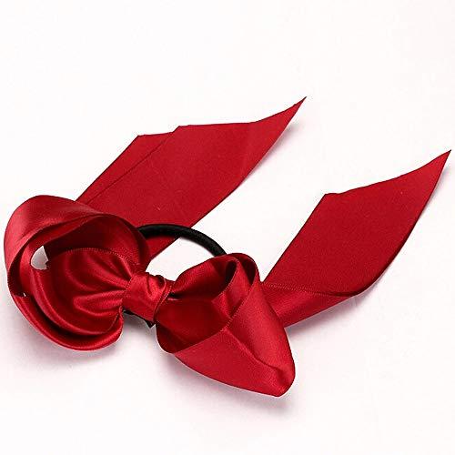 Ribbon Bow Rope Stirnbänder, TTWOMEN Scrunchie Satin Pferdeschwanz Knoten Haarband Inhaber Turban Haar Zubehör (Grün) Ribbon Bow Stirnband