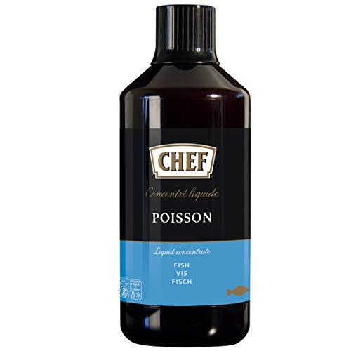 CHEF Flüssiges Konzentrat Fisch, Geschmacksboost für Aromatische Fischgerichte, 100% Natürlicher Geschmack, 1er Pack (1 x 1L)