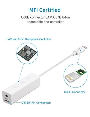 41EJXbnnBeL - [Amazon.de] IQIYI Lightning Adapter auf Klinke und Lightning mit Kopfhörersteuerung für 18,84€ statt 28,99€