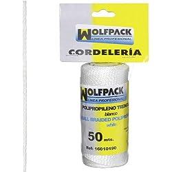 Wolfpack 16010190 Cuerda Trencilla Polipropileno Blanco (Bobina 50 Metros)