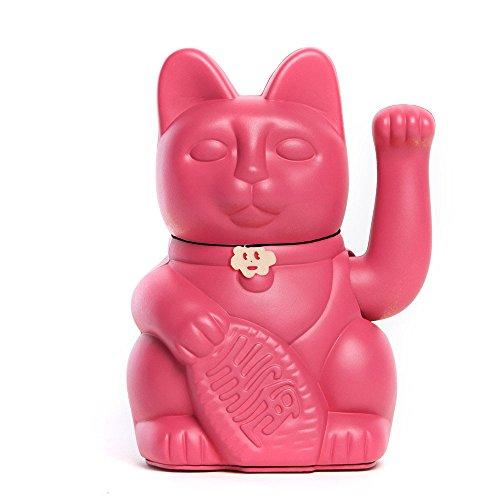 """Gato de la Suerte """"Gatete"""" es la versión elegante y decorativa del clásico gato de la suerte, gato de la fortuna o Maneki-Neko. Tamaño: 12x9x18cm. Estos gatos afortunados tienen la tarea de atraer la suerte moviendo su patita (funciona con pilas) y c..."""