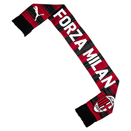 Puma AC Milan Fan, Scarf Unisex – Adulto, Tango Red-puma Black, UA