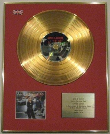 AVRIL LAVIGNE in oro 24 carati, Ltd CD-LET GO