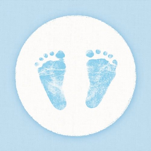 40 Servietten Blau Baby Junge Shower Füße Geburt Taufe Tischdeko Serviettendeko Party Gedeckter Tisch