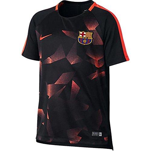 2017-2018 Barcelona Nike Pre-Match Dry Training Shirt (Black) - Kids (Pre-match Barcelona)