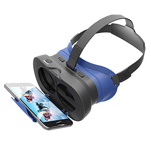 YSCMX Virtual Reality 3D-VR-Brille, Virtual Reality Goggles for Filme und Videos und Spiele, mit Eye Protection System, kompatibel mit 4,7-6,0 Zoll-Geräten -