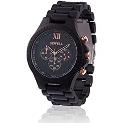 ZEITHOLZ wooden watch / Bewell EDLE KRONE / 100% dark Sandalwood / natural product / featherweight / hypoallergenic / sustainable / comfortable to wear / timer
