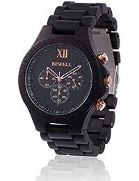 Reloj de madera ZEITHOLZ / Bewell EDLE KRONE / Sándalo 100% oscuro/ product natural / peso pluma / hipoalergénico / sostenible / cómodo de usar/ temporizador